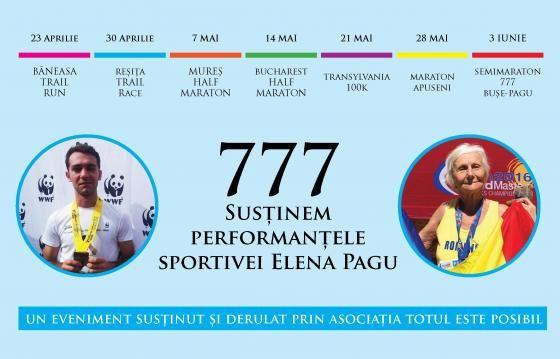 777 - Susținem performanțele sportivei Elena Pagu