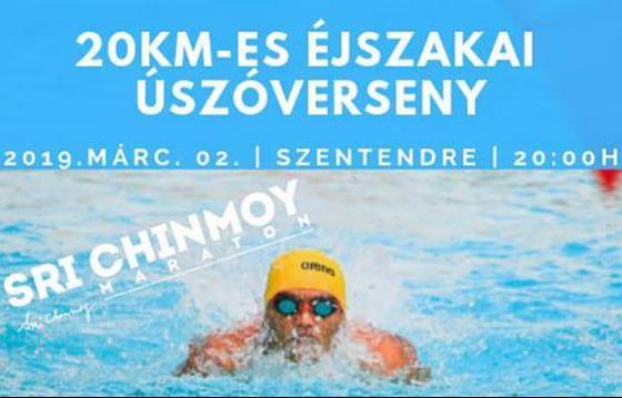 Sri Chinmoy 20km Night Swimming Szentendre ~ 2019