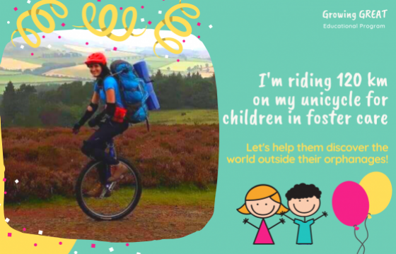 120 km on a unicycle for children in foster centers