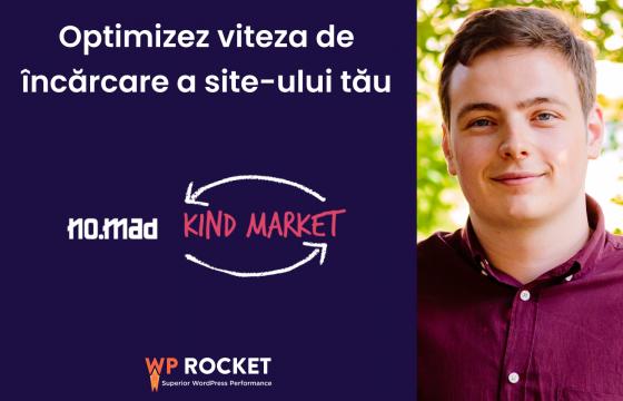 Optimizez viteza de încărcare a site-ului tău în schimbul donației pentru Kind Market