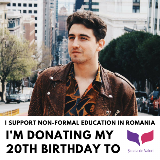 Imi daruiesc ziua educatiei - I donate my birthday for education