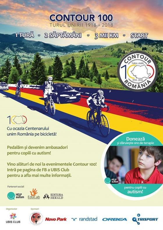 Conturul României pe bicicletă pentru conștientizarea autismului, în an centenar !