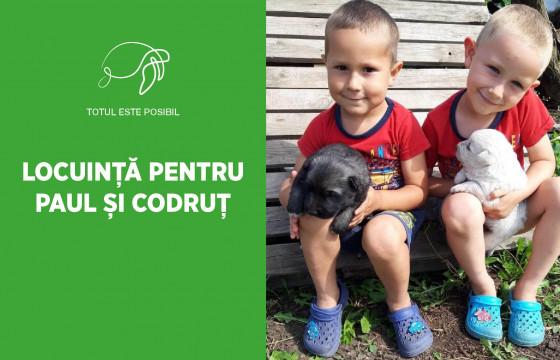 LOCUINȚĂ PENTRU PAUL ȘI CODRUȚ