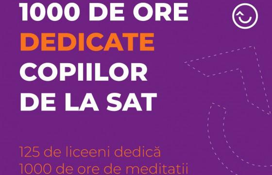 125 de liceeni dedică 1000 de ore de meditații copiilor din 10 sate | Avem nevoie de ajutorul tau