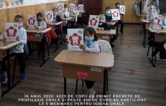 Pachete de profilaxie pentru sănătate orală pentru 8000 de copii de la sate