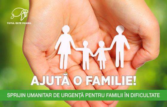 AJUTĂ O FAMILIE!
