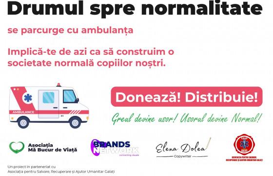Drumul spre normalitate se parcurge cu ambulanța!