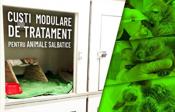 Custi Modulare de Tratament pentru Animale Salbatice