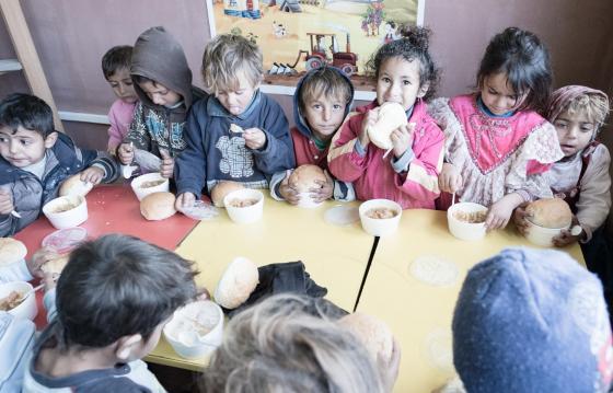 Sală de mese pentru copiii din Ponorâta