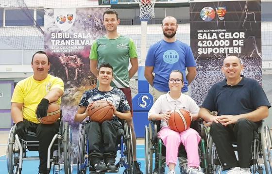 Sustine infiitarea unei echipe de baschet in scaun rulant in Sibiu