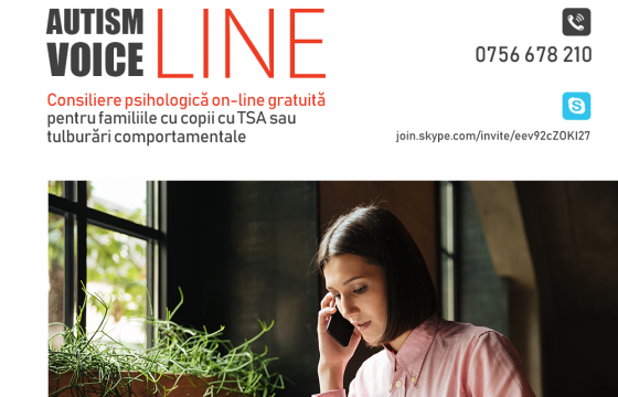 #AutismVoiceLine - Consiliere de specialitate gratuita on-line si telefonica pentru familiile cu copii cu autism izolati la domiciliu