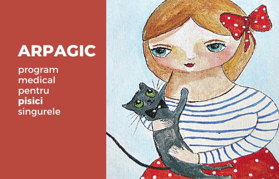 Arpagic. Sterilizare și îngrijire medicală pentru pisici singure