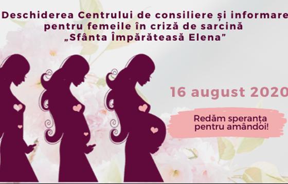 """Sustin activitatea Centrului de consiliere și informare pentru femeile în criză de sarcină """"Sfânta Împărăteasa Elena"""""""